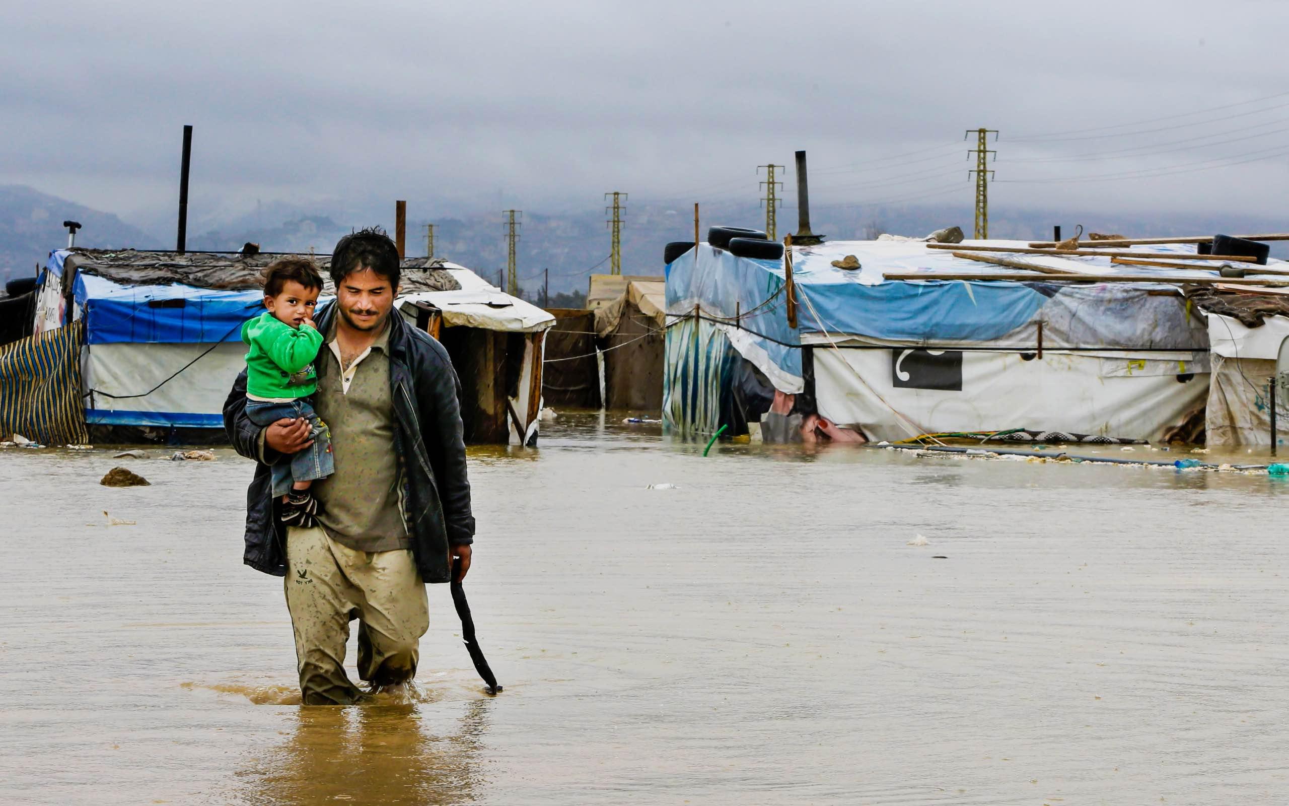 Personas desplazadas a causa de fenómenos climáticos