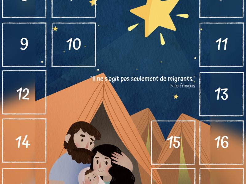 Le calendrier de l'Avent pour les Migrants et les Réfugiés