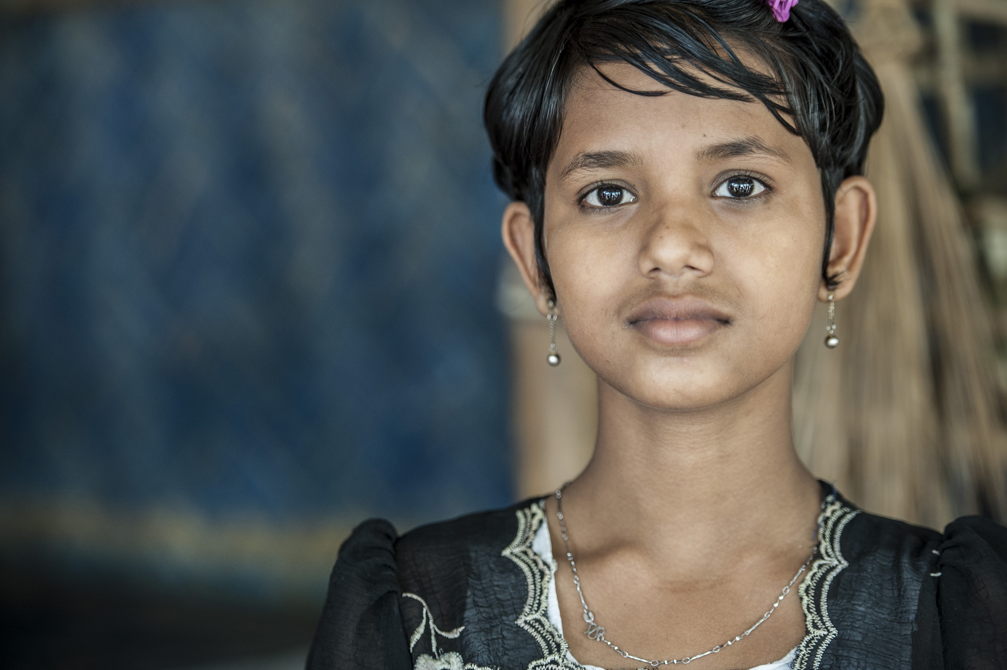 young girl portrait Migrants and Refugees