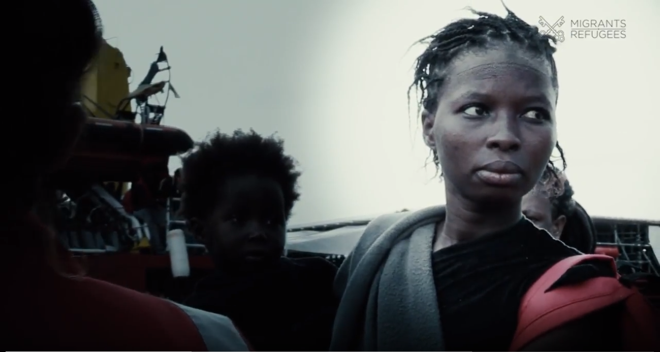 african Women ship Migrants and Refugees