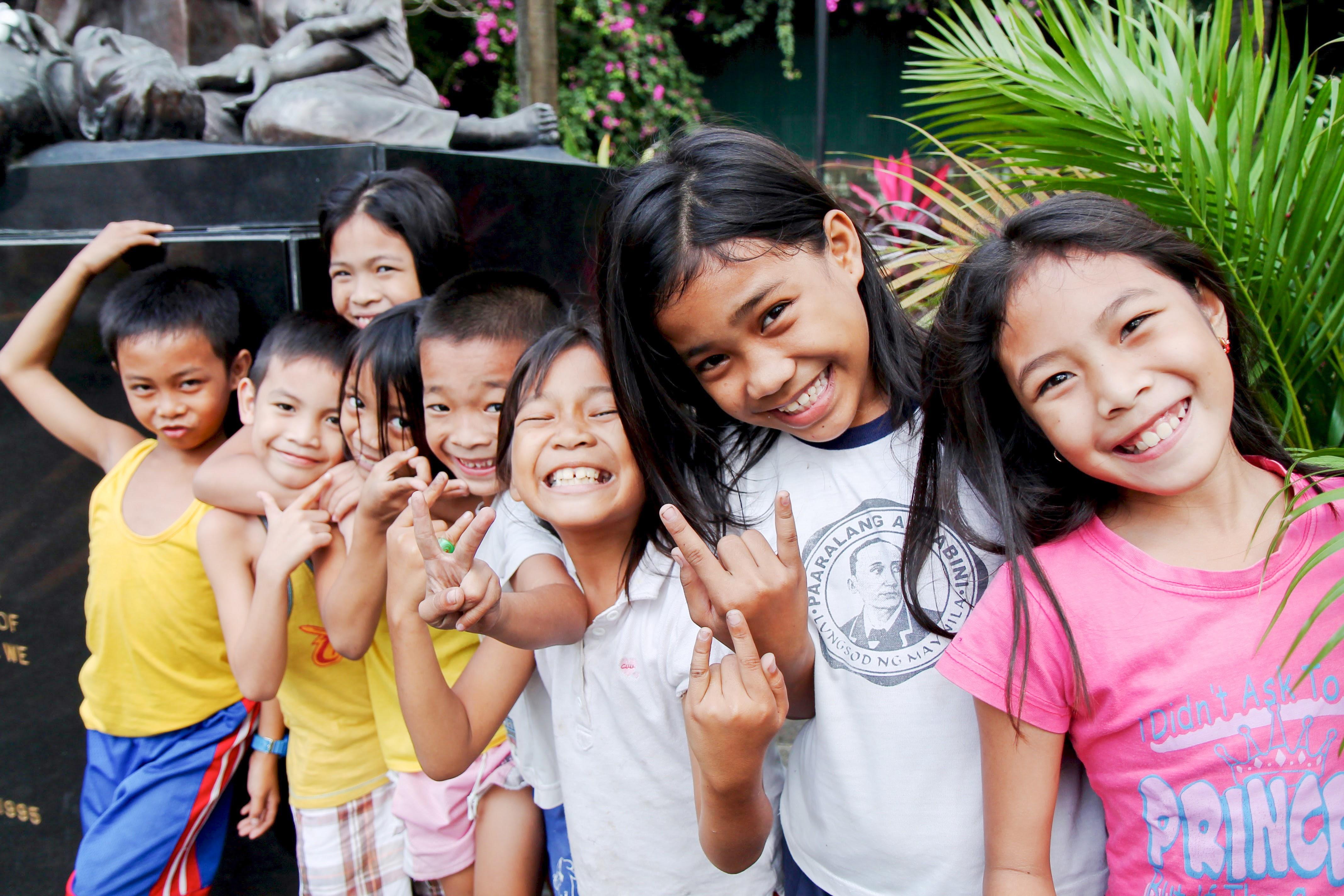 infants smiling childhood Migrants and Refugees