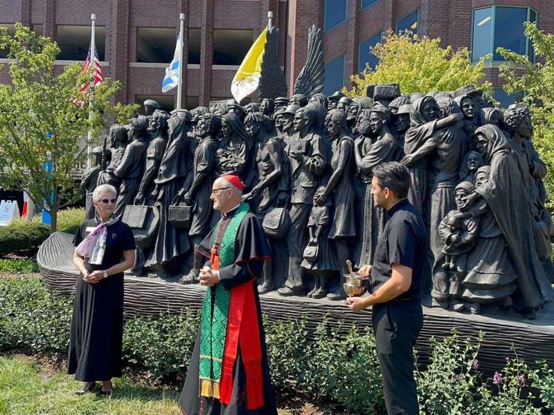 Cardinal Michael Czerny blessed the Angels Unawares replica arrived in Chicago